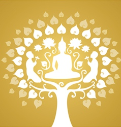 Buddha and bothi tree vector