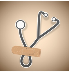Plaster and stethoscope vector
