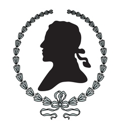 Laurel wreath with man silhouette vector