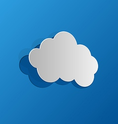 Cut out cloud blue paper vector