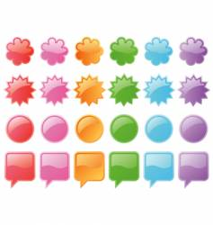 Web badges vector