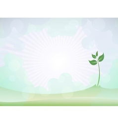 Spring sprout shoot vector