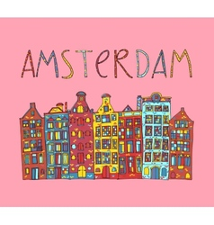 Amsterdam card vector