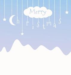 Cute postcard with christmas vector