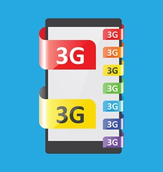 3g connection colors feature vector