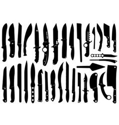 Knifes set vector