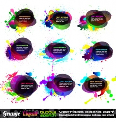 Grunge bubble vector