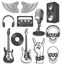 Rock set vector