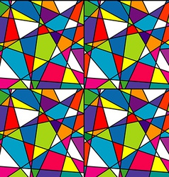 Colorful mosaic seamless with geometrical shapes vector