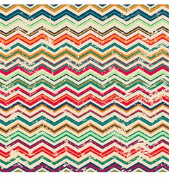 Vintage zigzag seamless pattern with grunge effect vector