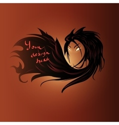 Female hair text background vector