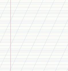 School notebook line vector