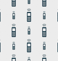 Remote control icon sign seamless pattern with vector