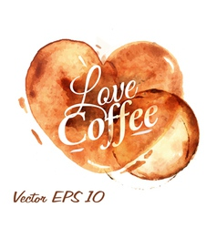 Traces coffee heart vector