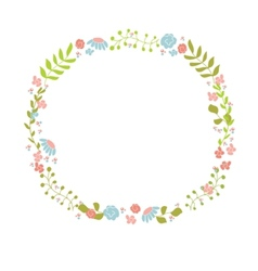 Cute floral wreath design for birthday card or vector