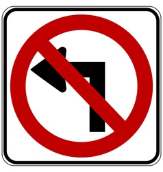 No left turn vector