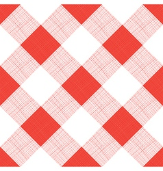 Seamless picnic tablecloth pattern vector