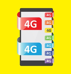 4g connection colors feature vector