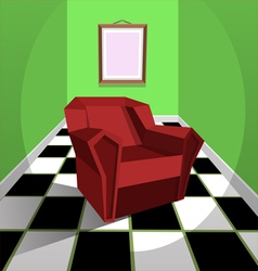 Red armchair vector