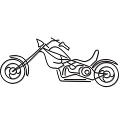 Simple motorbike design vector