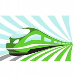 High-speed train vector