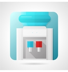 Flat stylish icon for water dispenser vector