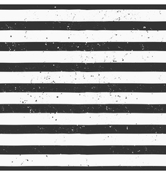 Hand drawn black and white stripe seamless pattern vector