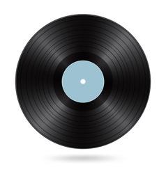 Black vinyl disc vector