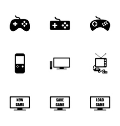 Video game icon set vector