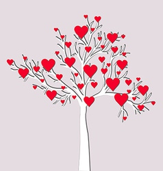 Love tree card vector