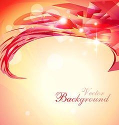 Shiny red background vector