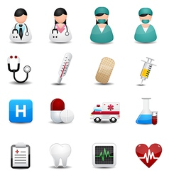 Medical icons symbols vector