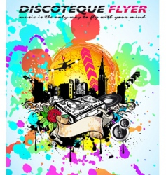 Abstract vintage style disco flyer vector