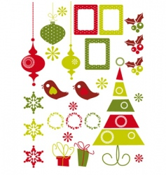 Christmas elements vector