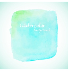 Green watercolor element for summer designs vector