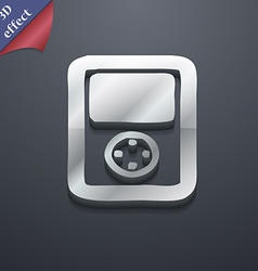 Tetris video game console icon symbol 3d style vector