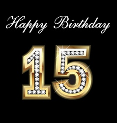 15 birthday vector