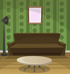 Retro room vector