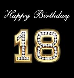 18 birthday vector