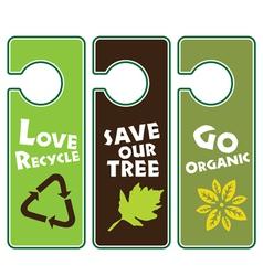 Ecological awareness vector
