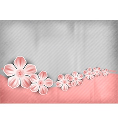Spring background pink vector