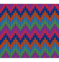 Color knitted wool pattern background vector