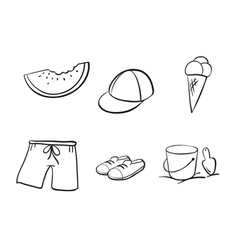 Sketches of various objects vector