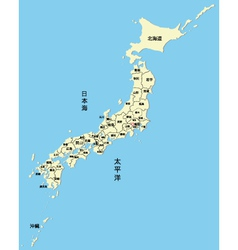 Japanese map vector