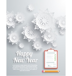 Happy new year snowflakes vector