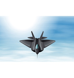 A gray fighter jet in the sky vector