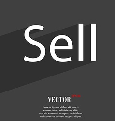 Sell icon symbol flat modern web design with long vector