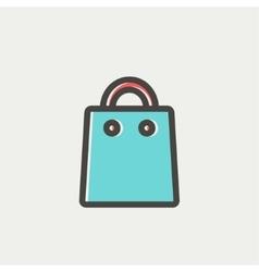 Shopping bag thin line icon vector