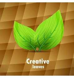 Background with leaves vector