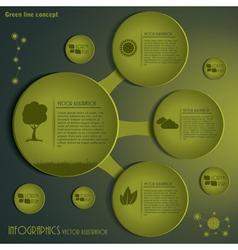Green infographics design template vector